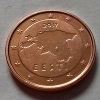 2 евроцента, Эстония 2017 г., UNC