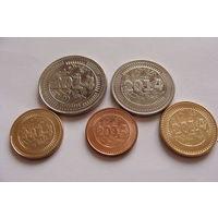 Зимбабве. 5 монет 2014 год 1,5,10,25,50 центов UNC