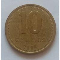 Аргентина, 10 сентаво 1992,1993,2004,2005,2006,2007,2008 глд.