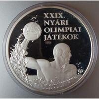 Венгрия 5000 форинтов 2008 года. Водное поло. Серебро. Пруф. Редкая!