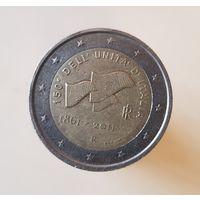 2 евро Италия 2011 150 лет 150-летие объединения Италии