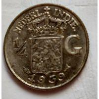 Голландская Ост-Индия 1/4 гульдена, 1939 1-7-36