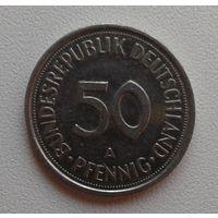 50 пфеннигов 1990A Германия КМ# 109.2 медно-никелевый сплав