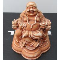 Смеющийся Будда статуэтка фигурка сувенир подарок презент керамика коллекция