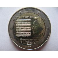 Люксембург 2 евро 2013г. Национальный гимн. (юбилейная) UNC!