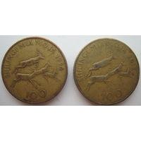 Танзания 100 шиллингов 1994, 2012 гг. Цена за 1 шт. (g)