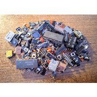 Радиодетали транзисторы микросхемы светодиоды полубоченки варикапы кнопки  с 1 рубля