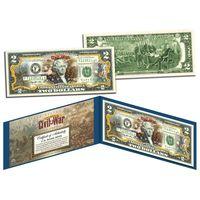 2 доллара Гражданская Война - Битва при Булл-Ран (цветные в футляре с цветным сертификатом) UNC