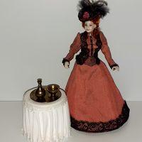 Блюдо, ваза, графин латунь Clare Bell Brass Miniatures (CBBM) (кукольный дом в викторианском стиле, Дом мечты ДеАгостини DeAgostini, миниатюра 1:12)