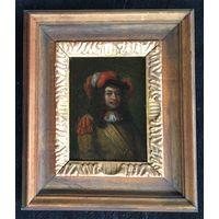 17 век. Музейная живопись на цинковой пластине;12/16 см;24/28 см с рамой