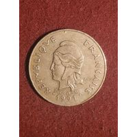 100 франков Новая Каледония 1991