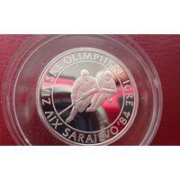 Югославия 100 динар 1982 Олимпиада Сараево. ПРУФ .ОРИГИНАЛ