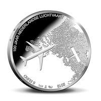Нидерланды 5 евро 2019 100 лет авиации в Нидерландах UNC блистер