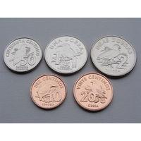 Сан-Томе и Принсипи. Набор из 5 монет 10, 20, 50 сентимо 1, 2 добра 2017 год