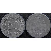 YS: Германия, Wittenberge, 50 пфеннигов 1917, нотгельд городской общины Виттенберге, цинк, Funck# 606.3