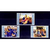 Барбуда\р5\ 1970 Рождество Живопись Искусство Картины  MNH