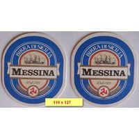 """Подставка под пиво """"Messina"""" ( Италия)."""