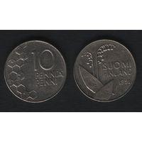 Финляндия km65 10 пенни 1991 год (M) (f310)