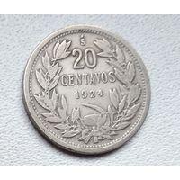 Чили 20 сентаво, 1924 6-2-18
