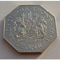 Сьерра-Леоне.  1 леоне 1987 год  KM#43