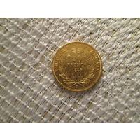 20 франков ,  Франция , Наполеон 3, 1856 г.