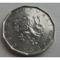 2 кроны Чехия 2007 г.в., KM# 9, 2 KORUN, из коллекции