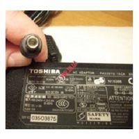 Зарядное устройство для ноутбука Тoshiba, оригинальное, б.у. 100-240V, 1.2A, 50-60H, 15V, 5A, хорошее состояние, полностью  рабочее, без переломов и сколов.