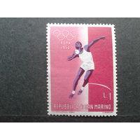 Сан-Марино 1960 олимпиада, толкание ядра