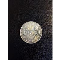 5 марок ФРГ  серебро 0,625 1969 года 44
