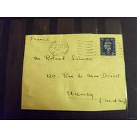 193? Великобритания вырезка из письма марка хорошая сохранность король