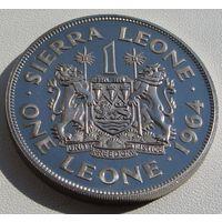 """Сьерра-Леоне. 1 леоне 1964 год KM#21 """"Премьер-министр Милтон Маргай""""  Редкая!!!"""