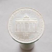 Германия 10 марок 1991 A Бранденбургские ворота серебро