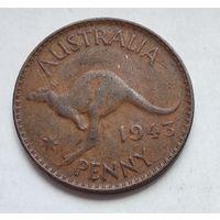 "Австралия 1 пенни, 1943 Точка после ""PENNY"" 3-13-1"