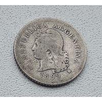 Аргентина 10 сентаво, 1899 3-14-14