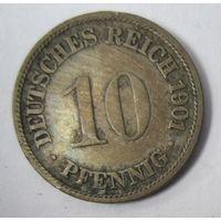 Германия. 10 пфеннигов 1901 F .  1-39
