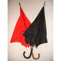 Зонт трость винтаж 90-е года Германия цвет красный