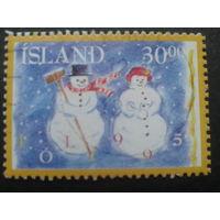 Исландия 1995 Рождество