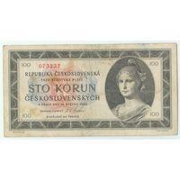 Чехословакия, 100 крон 1945 год.