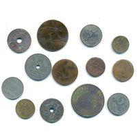 Монеты старой Европы, РИ, Азии 14 шт. #8