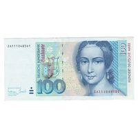 Германия ФРГ 100 марок 1996 года. Большой номинал! Редкая! Состояние XF+!