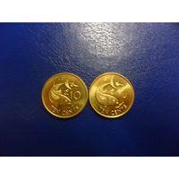 Сейшельские острова 10 центов 2007 г.