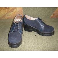 Туфли-полуботинки из нат.кожи. 36-37 р-р