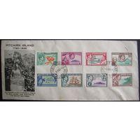 Британские колонии. Остров Питкерн.Серия 1940 на конверте 1946