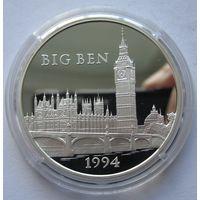 Франция 100 франков 1994 Биг-Бен - серебро 0,900