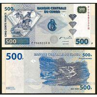 Конго. 500 франков 2002. [UNC]