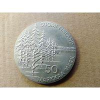 Финляндия, 50 марок 1985 г., Калевала, серебро