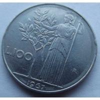 Италия. 100 лир 1967