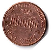 США. 1 цент. 1996 г.