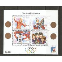 1994 Норвегия Зимние Ол.игры малый лист