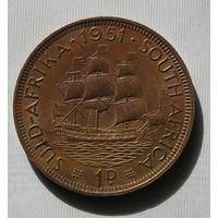 Брит. Южная Африка 1 Пенни 1951 GEORIUS SEXTUS (D)